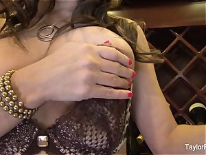 huge-chested dark-haired Taylor Vixen taunts the camera