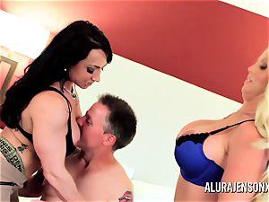 Alura Jenson mummy 3some pummel with Brandi May
