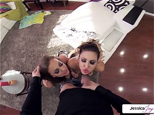 Abigail Mac and Jessica get screwed in many positions