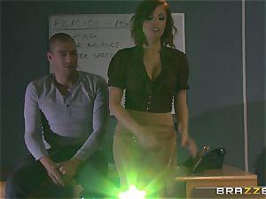 molten red-haired schoolteacher Britney Amber displays schoolgirl how its done