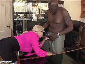 Bridgette B - My new Latina secretary in pantyhose