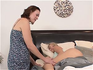 SEXYMOMMA - Stepmom inspects all of stepdaughters fuck holes