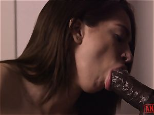 dark-haired nubile, Joseline Kelly, is an ass fucking slave for big black cock