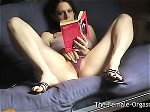 Home Alone Selfie Reading Erotica and milking