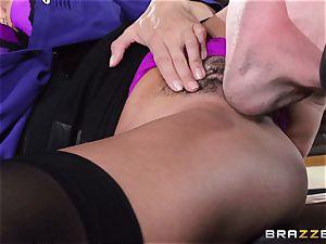 Ariella Ferrera takes a portion from Danica Dillans guy