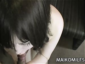 Maiko Umeki - chubby Jav wifey riding A small man rod