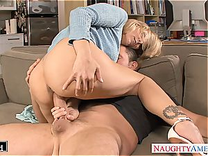 saucy Julia Ann pulverized well and decorated
