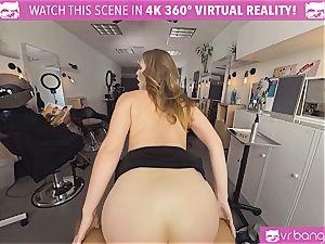 VRBangers.com Hairdresser Ella nailed rock-hard and facial cumshot