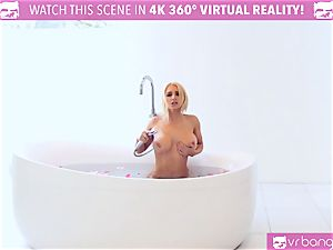super-hot ash-blonde Alix Lynx cought by beau milking