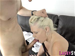 tit-screwing granny torn up