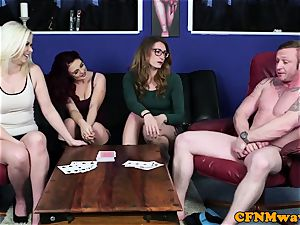 european CFNM female dominance edging blokes pulsing pecker