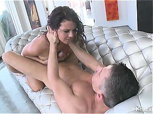 Top busty stunner Keisha Grey gets crazy with Mick's man rod