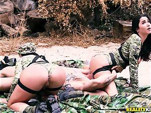 Angela white, Karlee Grey - super-fucking-hot army breezies with humungous boobs