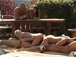 Outdoor hook-up joy and pornography games scene three