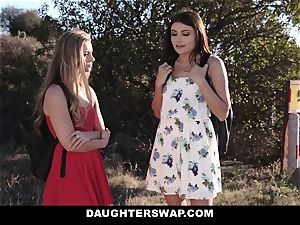 DaughterSwap - ash-blonde sweetheart Caught On webcam and ravaged