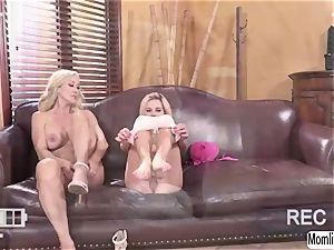 Brandi love and Bella Rose gets filmed while having bang-out