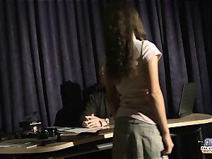 Anita seducing her senior music lecturer
