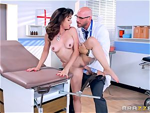 Cytherea is left squirting as she visits the physician