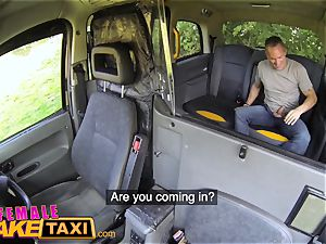 girl fake taxi Tea bagging unloading and stiff pulverize