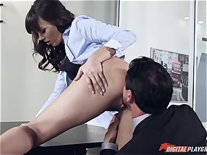 Dana DeArmond and Tommy Gunn penetrating in the office