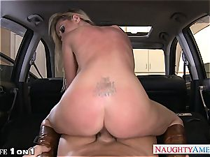 naughty Nikki Benz in point of view getting her cougar vulva porked
