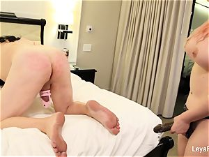 Leya ball busts Sissy Jessica then smashes his backside
