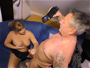 SexTapeGermany - German cougar nailed in fuckfest tape