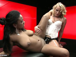 tough Kathia Nobili shoves her cord on cock deep down her counterpart gullet