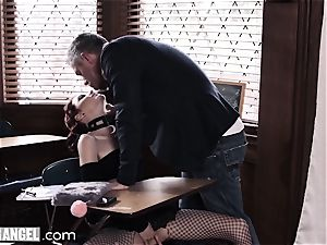 goth stroking In Detention is rectally disciplined