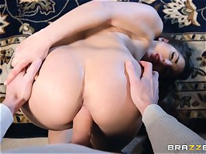 Smoking steamy brown-haired Jimena Lago point of view