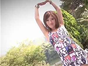 Premium outdoor Japan bang with huge-titted Aika