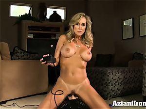 Brandi love rides the sybian nude