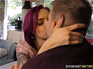 Anna Bell Peaks deepthroats monster meatpipe at cheating Sessions