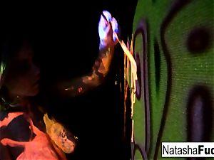 Natasha super-cute And Raylene Working Side By Side