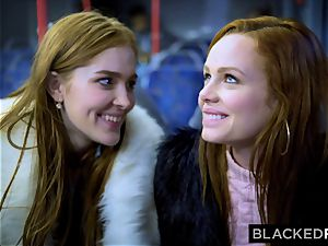 BLACKEDRAW 2 hotties boink phat bbc On Bus!