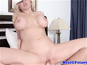 thick breasted platinum-blonde housewife luving pecker