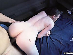 black-haired woman picked up and boned