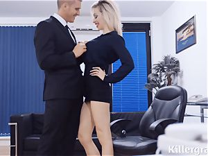 super-naughty bitchy secretary Chessie Kay has fuck-fest with her huge chief at the office