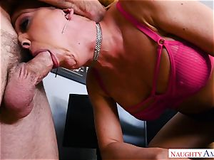 pussy plumbing cougar cherie Deville in the office