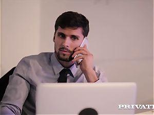 Private.com secretary Barbara Bieber plows her manager