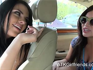 Belle Noire and Adriana Chechik get point of view facials