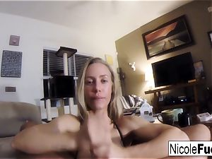 Home flick of Nicole Aniston providing a point of view fellate Job