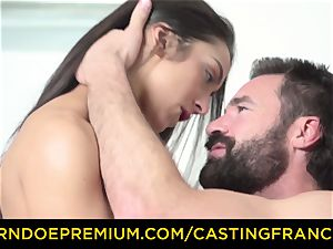 audition FRANCAIS - unexperienced sweetheart ravaged and cum adorned