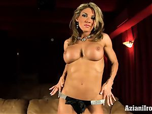 Abby strips down and flashes off in theater