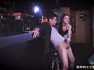Monique Alexander and August Ames get their fuckboxes sunk with Xanders trouser snake