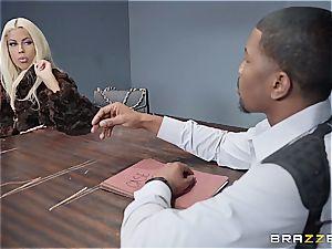 draped ebony detective assfucking a ash-blonde sweetie