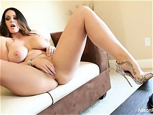 meaty jugged beauty Alison Tyler plays with her labia