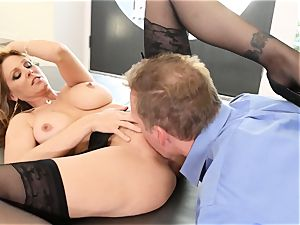 light-haired cougar Julia Ann gets porked in magnificent lingerie