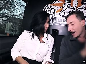 backsides Bus – hot German bus tear up with filthy mature woman
