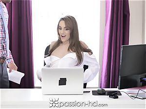 fervor HD assistant opens legs for more money